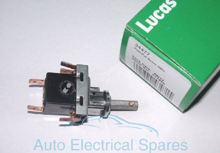 Lucas 34477 58SA PUSH PULL light switch 3 postition off-on-on